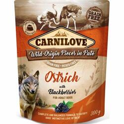 Carnilove Pouch Pate Ostrich With Blackberries - Kornfri, 300 g